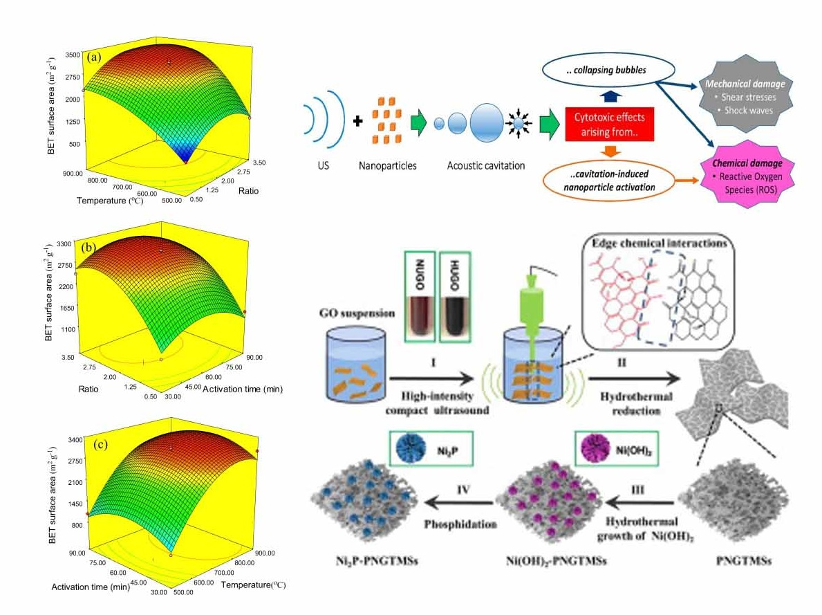 Physical Distribution of Nano particles by Ultrasonic Operation